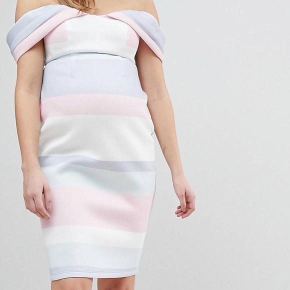 Asos Dresses Asos Pastel Stripe Maternity Dress Sz6 Poshmark